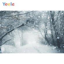 Фоны для фотосъемки yeele с изображением зимнего пейзажа снежинок