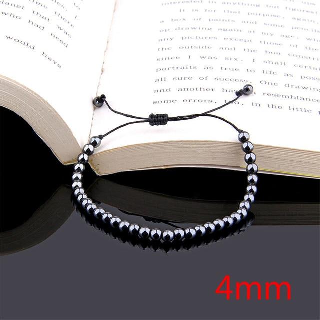 Bracelet Boules Tibetain Mala 8 mm Hématite Aimantée