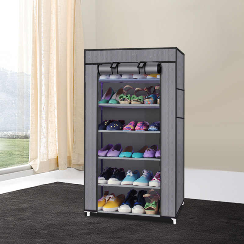 7 Layer Diy Shoe Rack Storage Shoes Organizer Shoemaker Moistureproof And Dust Proof Shoe Cabinet Closet Living Room