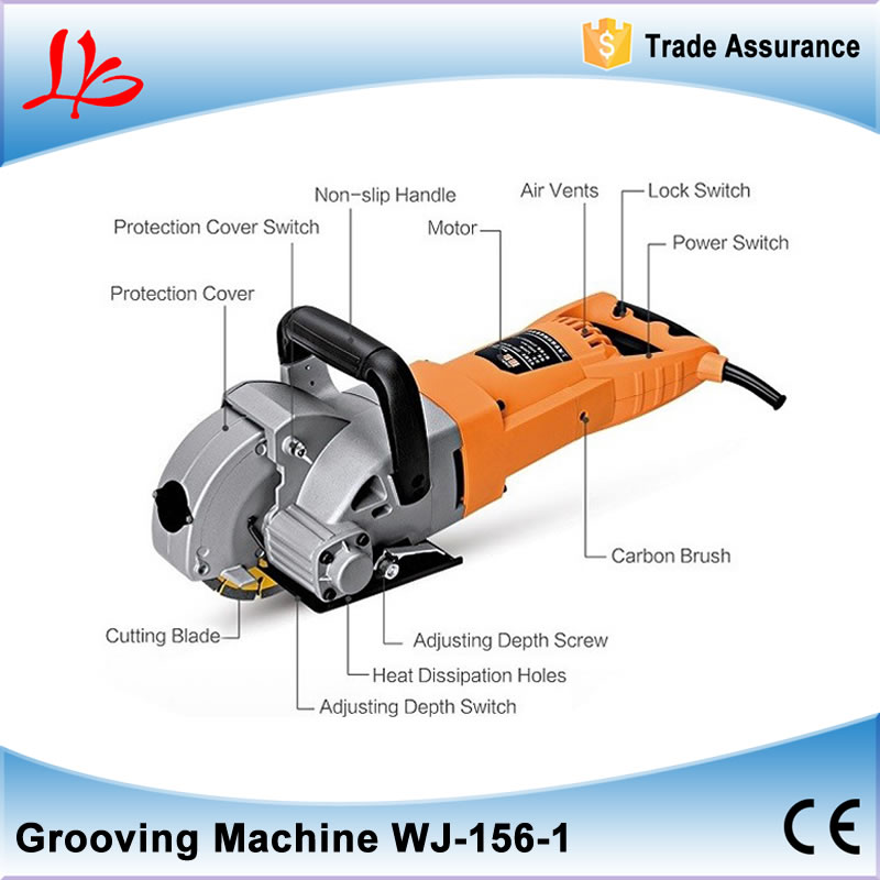 Multifunction Wall Chaser Machine 5200W WJ-156-1 for quick and clean cutting of wall chases no tax cw6121 multifunction wall groove cutting machine wall groove machine wall chaser machine for brick
