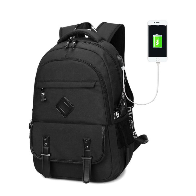 famous brand men usb backpack oxford 15/15.6 inch laptop school bags for teenage girls and boys travel daypack charging bags