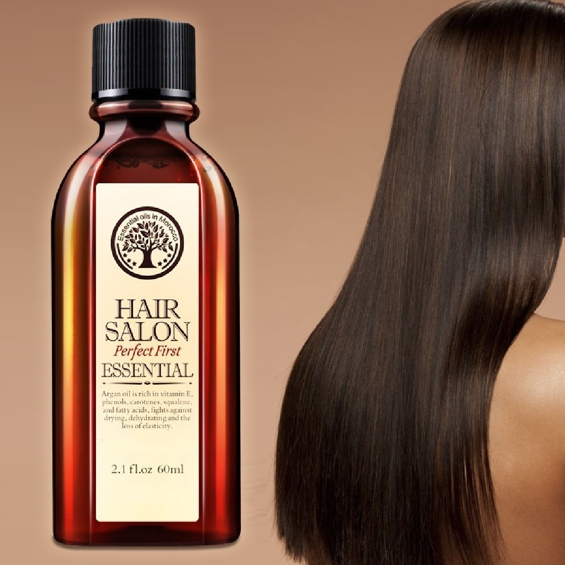 New 60ml Morocco Argan Oil Haircare Essential Oil Nourish Scalp Repair Dry Damage Hair Treatment Glycerol Nut Oil Hairdressing
