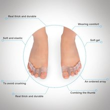 1Pair Silicone Bunion Corrector nsoles Fashion Toe Spreading Orthotic Insole Cushion Foot Care Tool Gel Hallux Valgus Z32701