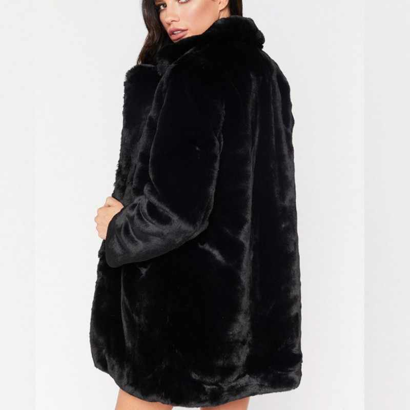 7ff4618ffe2 ... Faux Fur Coat Women Long Sleeve Thick Warm Flurry Jackets Plus Size  Coat Winter Black Yellow ...