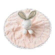 лучшая цена 23cm Cute Rabbit Shape Soft Plush Doll Comfort Towel Soft Appease Dolls Stuffed Animal Bunny Toys Baby Playmate Sleeping Toy