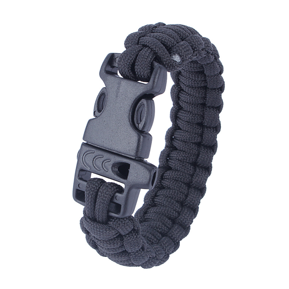 Wholesale 5pcs*7 Strand Survival Military Weave Bracelet Cord Buckle Purple Luggage & Bags