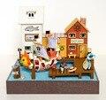 DIY De Madeira Casa de Bonecas Em Miniatura Modelo de Artesanato Kits & Aventura barco de Milhas... Quarto de menina com móveis de instruções inglês