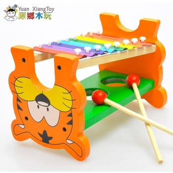 Musical instrument toy wooden frame shape multifunctional octave xylophone children's sound fun toy baby educational toys gifts
