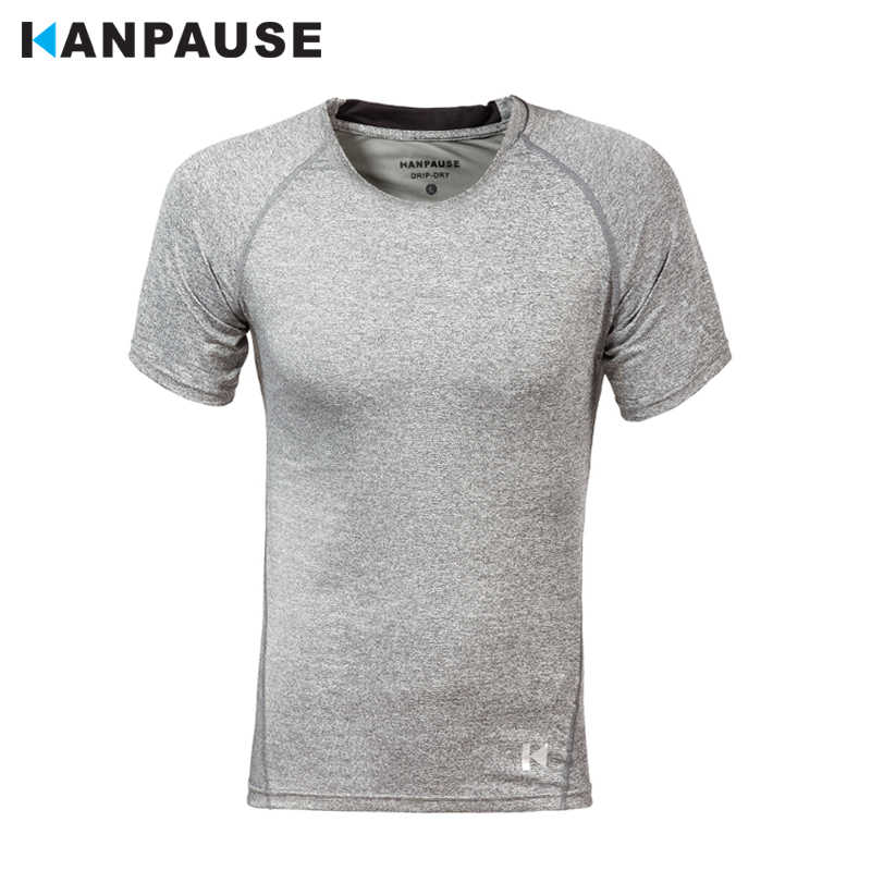 新到着 KANPAUSE 男性のタイト半袖トレーニング演習 Tシャツランニングスポーツウェア