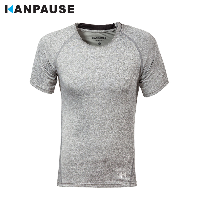 Neuankömmling KANPAUSE Herren Tight Short Sleeve Trainingsübung T-Shirt Running Sportswear