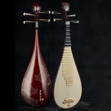 Высокое качество, профессиональные китайские народные инструменты lute pipa, специальный материал из красного дерева, 4 струны, китайский стиль, укулеле для взрослых