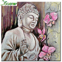 YOGOTOP DIY Diamond Painting Cross Stitch Kits Orchid Buddha Home Decor 100% Full 5D Diamond Embroidery Mosaic Wall Art ZB333