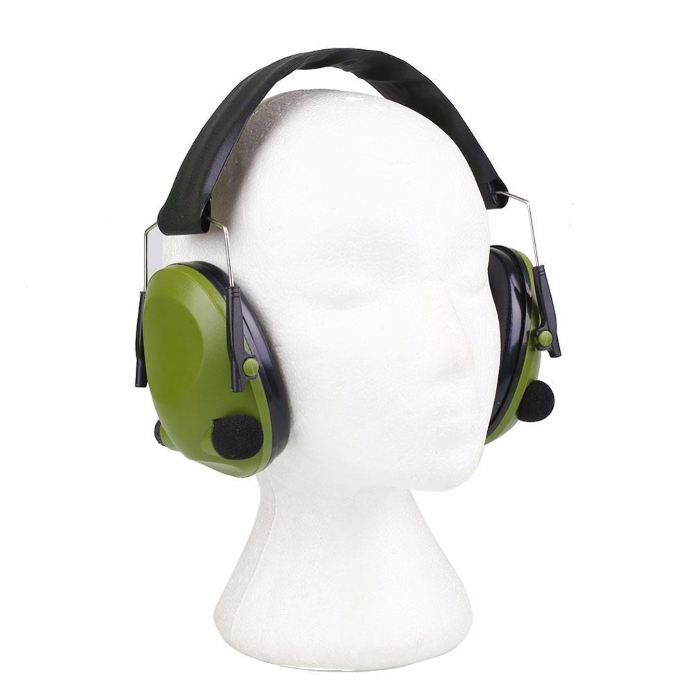 WoSporT Anti-Noise Earmuffs Ear Protector Impact Electronic Earmuff 21SNR Fold Hearing Outdoor Tool Hunting Shooting Ear Muffs 3m h6p3e cap mount earmuffs hearing conservation h6p3e ultra light with liquid foam filled earmuff cushions e111