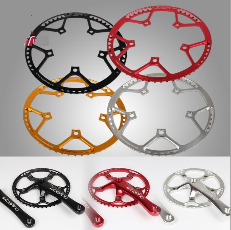 Litepro bicicleta dobrável chainwheel ultraleve 130 bcd 45t 47t 53t 56t 58 t al7075 liga bmx chainring pedaleira da bicicleta placa de dente
