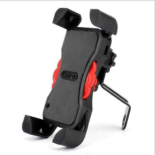 Soporte de teléfono para motocicleta manillar giratorio 360, soporte para teléfono móvil y espejo retrovisor para bicicleta