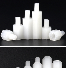 цена на 30/20/10Pcs M3*L+6mm Thread white Spacing Screw Plastic For PCB Motherboard Fixed Nylon Standoff Spacer Pillar