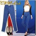 1894 New 2017 Arrival Wholesale Woman Denim Pencil Pants Brand Stretch Jeans High Waist Pants Women High Waist Jeans Plus Size