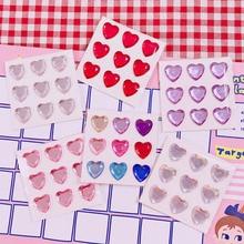 3D «любящее сердце» бриллиантовые наклейки мусор журнал альбом Happy planner телефон украшения наклейки для скрапбукинга DIY ремесло фотоальбомы
