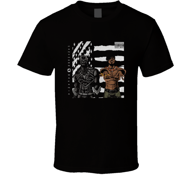 Black Panther Outkast Stankonia Album Cover Men's Black T Shirt Size S-3XL Cotton T-Shirt Fashion Free Shipping image