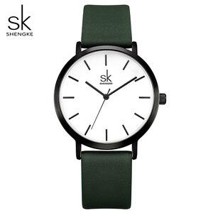 Image 1 - Shengke ファッション女性のクォーツ時計女性クリエイティブストラップ色を変更時計アナログレディースドレスジュネーブ腕時計リロイ Mujer