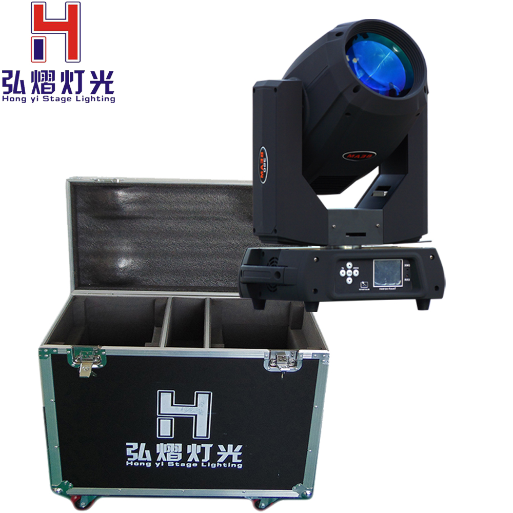 Hongyi Stage Lighting 2pcs/lot Flight Case Packing 17R Moving Head Beam 350W 2pcs lot flycase 16 prism power 350w 17r moving head beam sharpy light lyre gobos lumiere dmx 17r spot stage dj party lighting