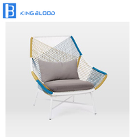 Outdoor Garden Furniture rope leisure Chair With Iron Legs