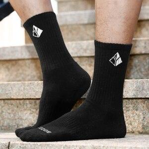 Image 5 - YUEDGE erkekler Comfortabl nefes pamuk yastık siyah ekip atletik eğitim Trekking yürüyüş spor çorapları 6 çift 38 47 ab