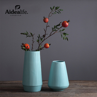 modern chinese vase blue porcelain geometric decor abstract ceramic art vases for centerpieces for weddings home decor