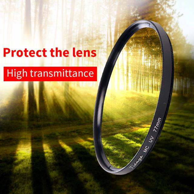 tianya uv filter MCUV filter 37 40.5 43 46 49 52 58 62 67 77 82 86mm mcuv  4-layer coating filters for nikon canon camera lens