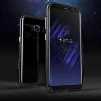 Luphie Brand Case For Samsung Galaxy S8 Case Luxury Aluminum Ultra Thin Metal Bumper For Samsung