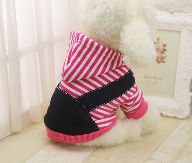 New autumn and winter stripes not down velvet dog clothes pet clothing large and medium dogs Golden Retriever dog clothes