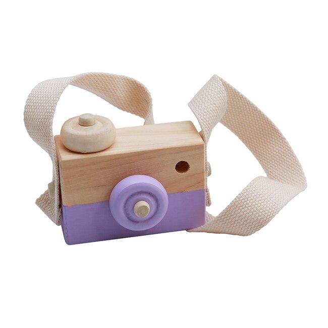 Скандинавский Европейский стиль камера Игрушки для маленьких детей декор комнаты предметы мебели ребенок Рождество День рождения деревянные подарки - Цвет: Purple