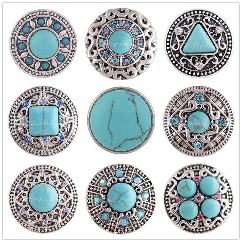 Wholesale 10pcs Women/'s Snaps Bijoux 12mm//18mm À faire soi-même Charms Bracelet Bracelets