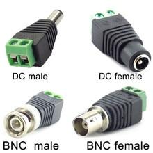 2/5/10 adet 12V DC BNC erkek dişi konnektör koaksiyel Cat5 BNC dişi fiş Led şerit işıklar Video Balun güvenlik kamerası aksesuarları