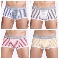 New Stripe men casual fashion brand High quality boxer 4pcs/lot mens Cotton boxers mens underwear boxers male boxer