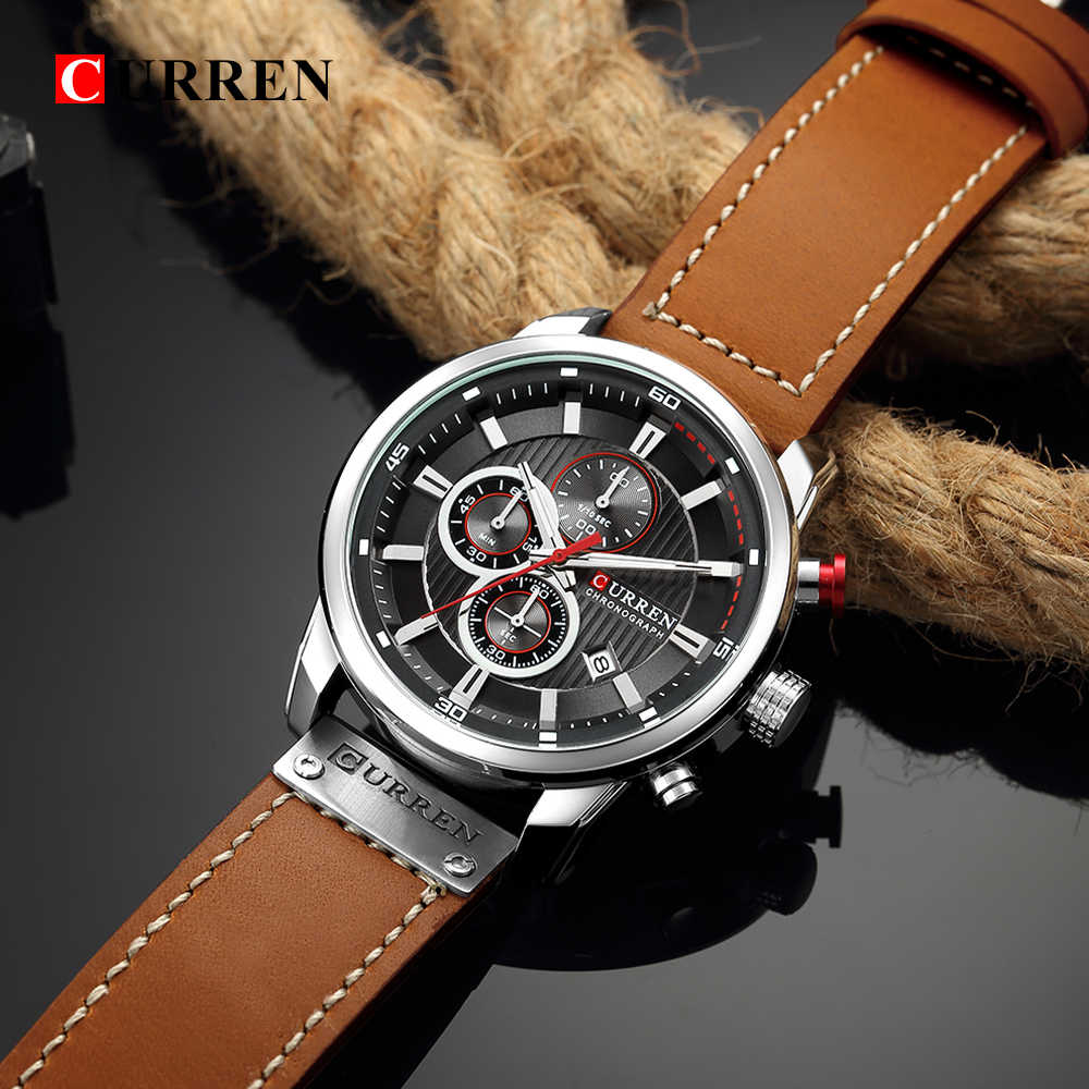 Top Merk Luxe Chronograph Quartz Horloge Mannen Sport Horloges Militaire Leger Mannelijke Polshorloge Klok Curren Relogio Masculino