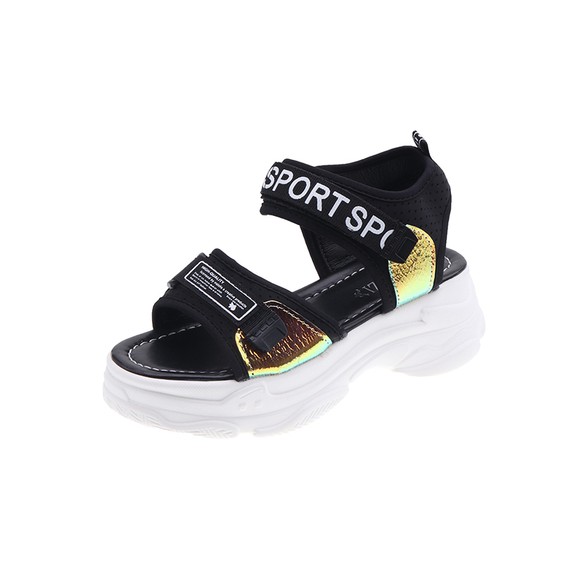 Women Sandals 2019 New Fashion Beach Shoes Ladies Casual Shoes Platform Shoes Summer Sandals sandalias de verano para mujer in Middle Heels from Shoes
