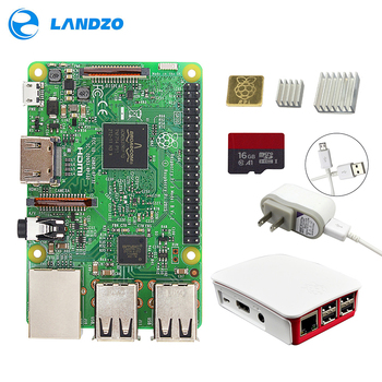 Raspberry Pi 3 Starter Kit -pi 3 board / Original Official case / 16 G micro SD card / 5V2.5A US Power Supply  /  logo heat sink