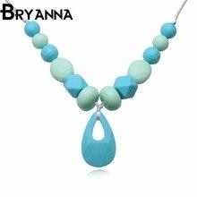 Bryanna новые ювелирные изделия оптовая Classic силиконовый Для женщин ожерелья для женщин колье S101