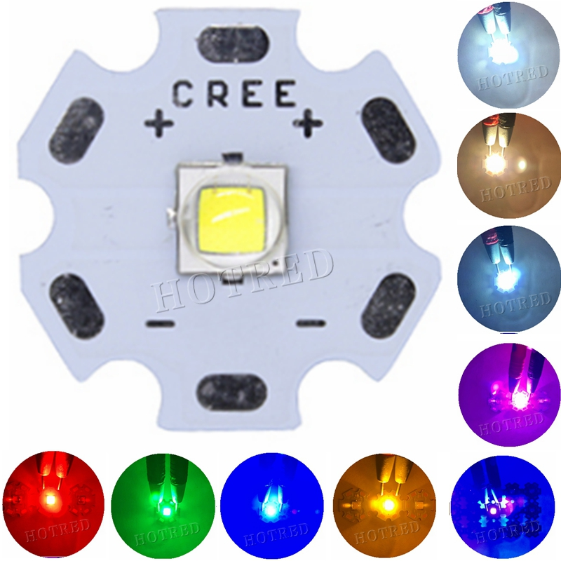1PCS CREE XML2 LED XM-L2 Diode T6 U2 10W WHITE Neutral Warm White Flashlight Chip Bulb Red Green Blue UV High Power LED Emitter