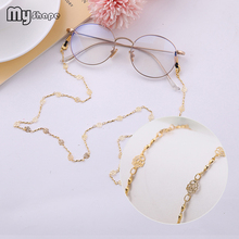 My Shape Hollow Rose Flower Glasses Chain Eyeglass Strap Wom
