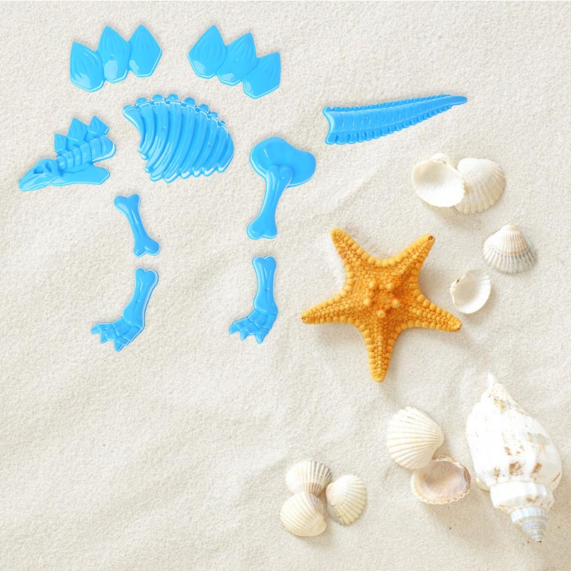 Baby Funny Dinosaur Skeleton Bone Sand Mold Beach Toys For Baby Children Kids Summer Random Color