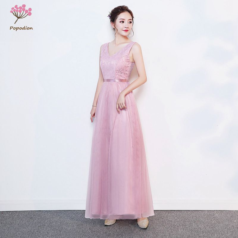 Long Gowns For Wedding Guests: Popodion Bridesmaid Dresses Long Dress For Sisters Wedding