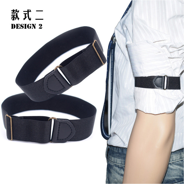 1 Pair Gentleman Formal Shirt Armband Sleeve Garter Holder Business Party Cuff father's day Gift Mouw Kousenband 2.5 cm width 8