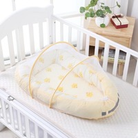 90*55cm portabel baby nest bed with mosquito Baby SLEEP POD Travel Bed Infant Toddler Cotton Cradle For Newborn Baby crib