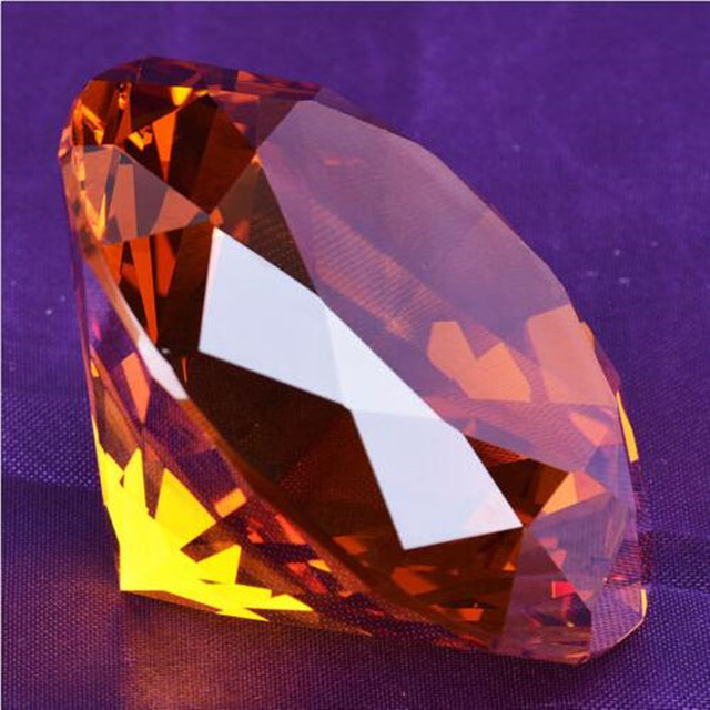 Amber High Quality 50mm 10pcs Sovenir Crystal Diamond Birthday Gifts Paperweights Crystal Feng Shui Crafts for Home Wedding