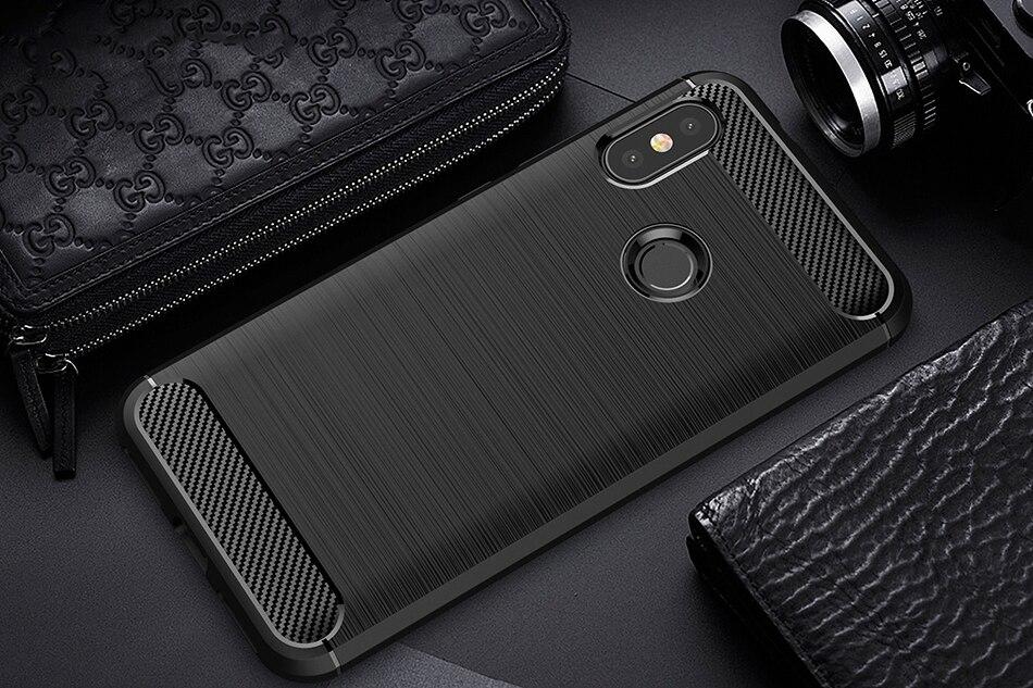 Brushed Carbon Fiber Phone Case For Xiaomi Redmi 6 Pro 6A 6 Cover Case On For Xiaomi Redmi 6 6A 6 Pro Silicone TPU Coque