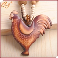 Bohemia national wind necklace Retro long wooden cock that sweater chain pendant sautoir wholesale hot style