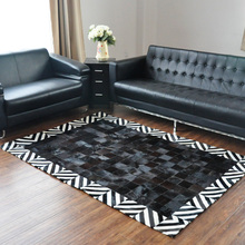 free Beauty 100 natural genuine cow leather customized rug