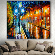 High quality oil painting printed tapestry small village Scenic wall hanging carpet comfortable no fade tapestries mmuju